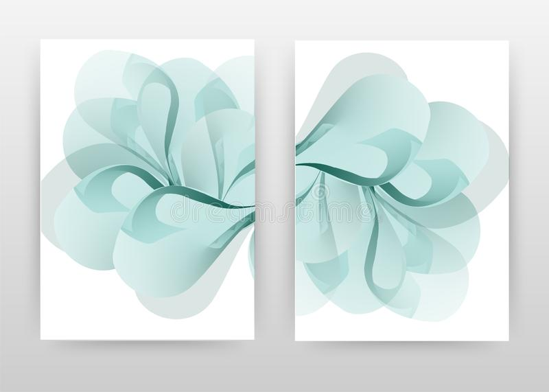 Blue flower petal design of annual report, brochure, flyer, poster. Cyan flower background vector illustration for flyer, leaflet. Poster. Business abstract A4 vector illustration