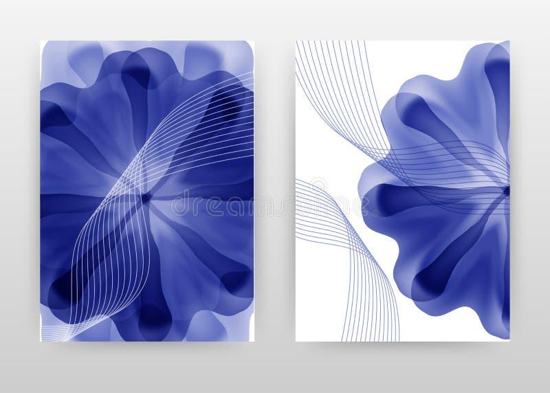 Blue flower petal with waved lines design for annual report, brochure, flyer, poster. Blue flower petal background vector. Illustration for flyer, leaflet vector illustration