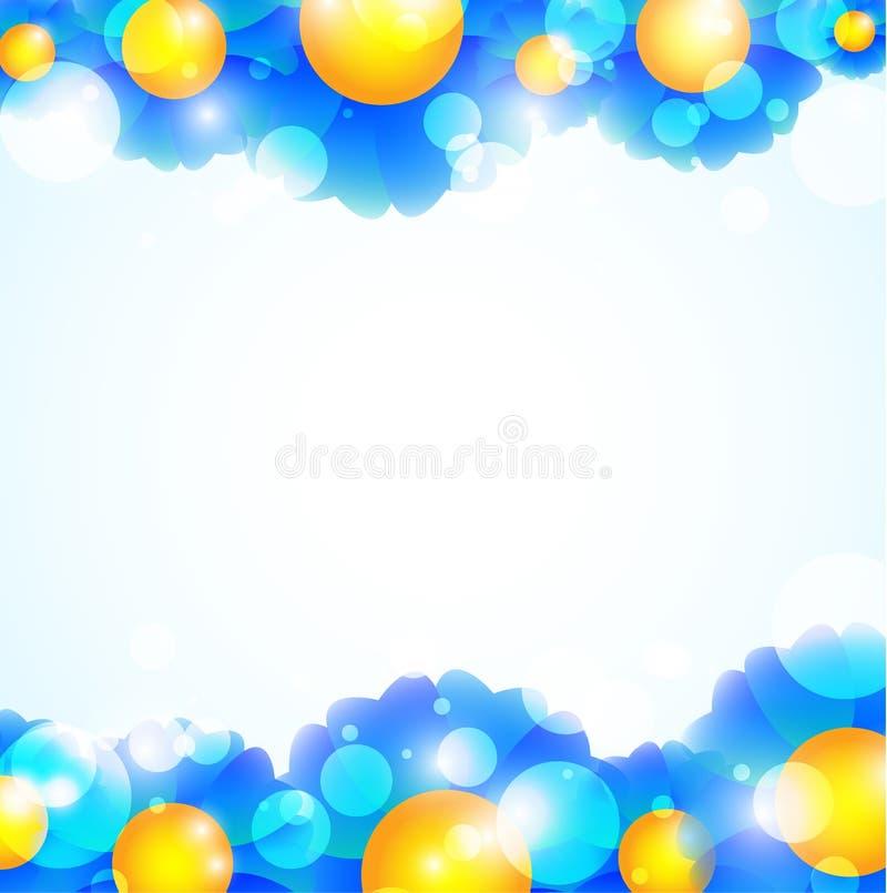 Download Blue flowers background stock illustration. Illustration of colorful - 23690626