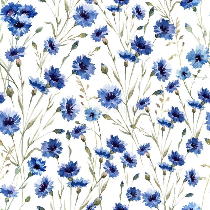 Blue flowers royalty free illustration