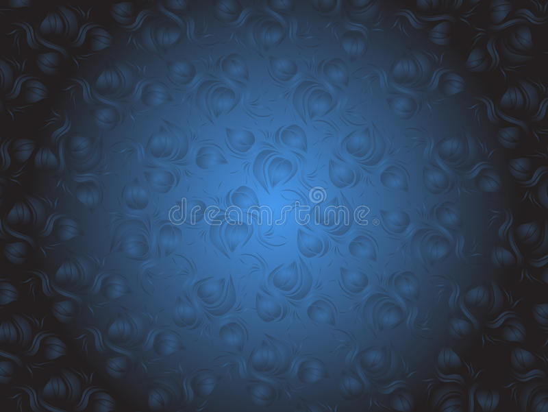 Download Blue Flowers On Blue And Black Background Stock Vector - Illustration: 22999190