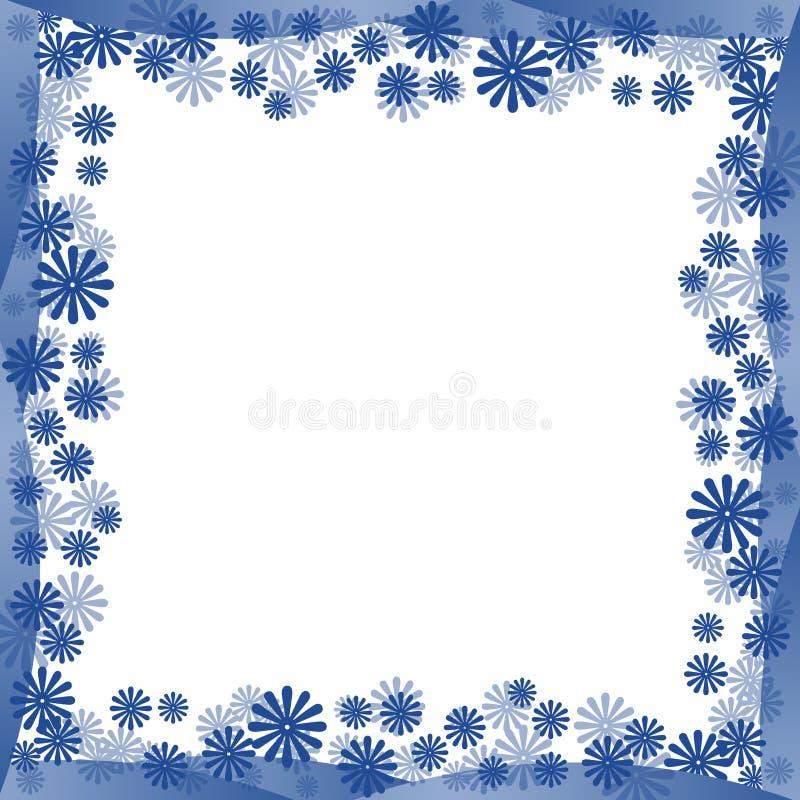 Blue Flowers Border Stock Photography