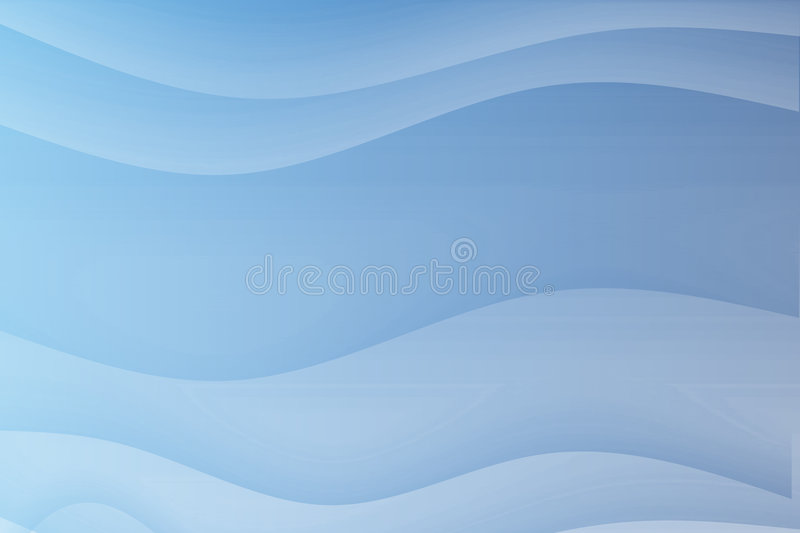 Blue Flowing Soothing Waves. Abstract Background Wallpaper stock illustration