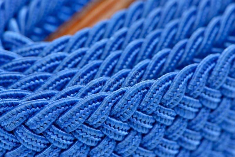 Blue Folded Cord Belt