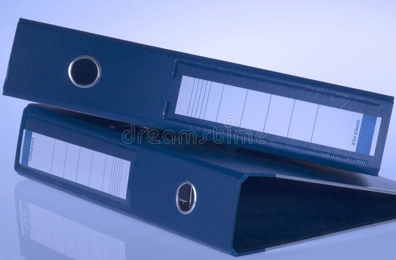 Blue Folders royalty free stock photography