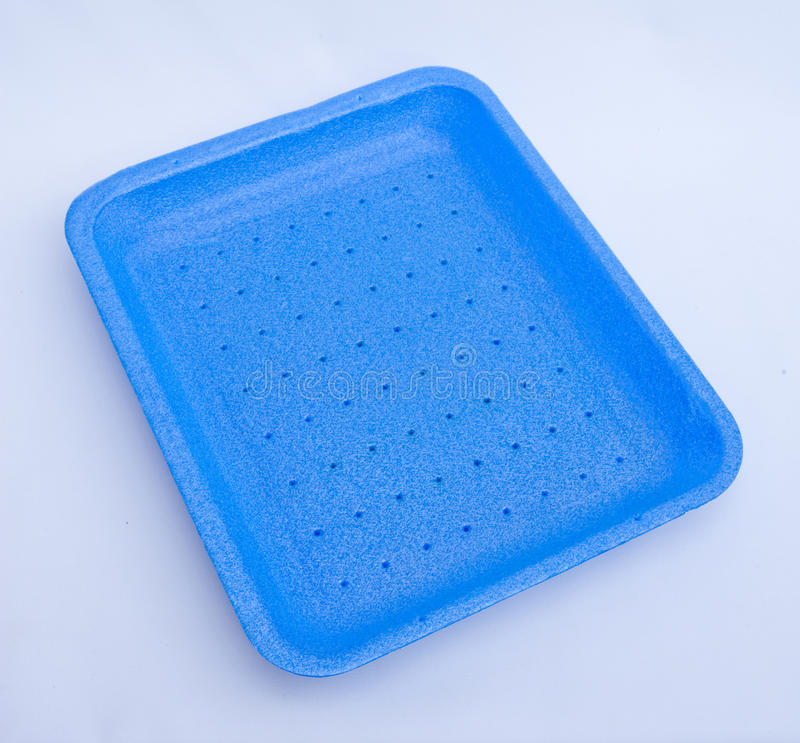Blue food tray. royalty free stock image