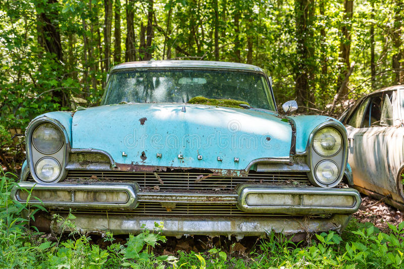 Blue Ford Lincoln stock photos