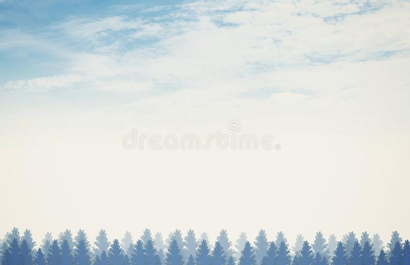 Blue Forest Background stock images