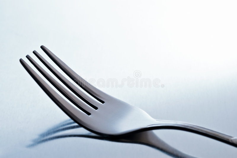 Blue fork royalty free stock images