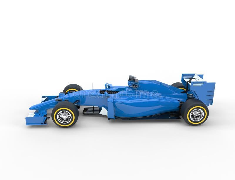 Blue Formula One Car. Isolated on white background royalty free stock photography