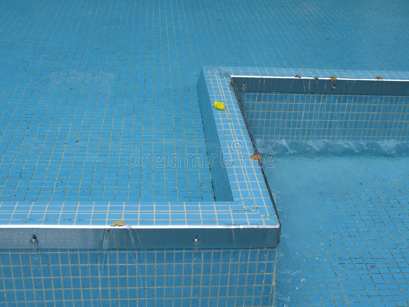 Blue Fountain Stock Image