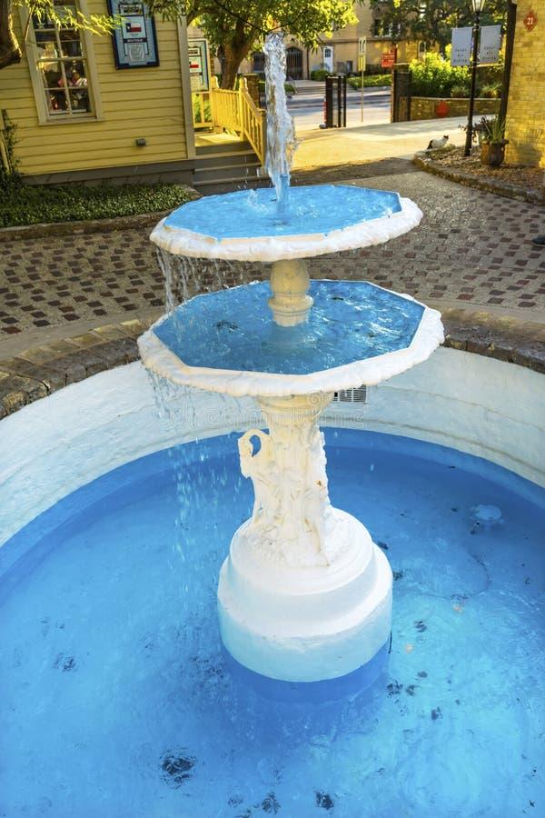 Free Blue Fountain Historic Arts Village River Walk San Antonio Texas Royalty Free Stock Photos - 168644488