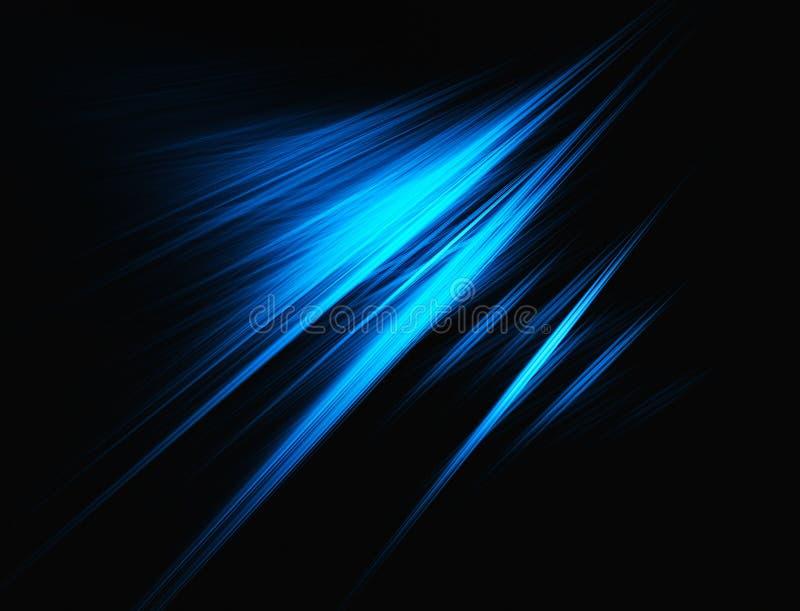 Blue fractal background royalty free illustration