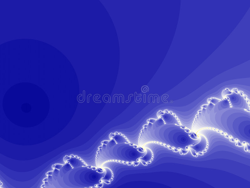 Blue fractal composition stock illustration