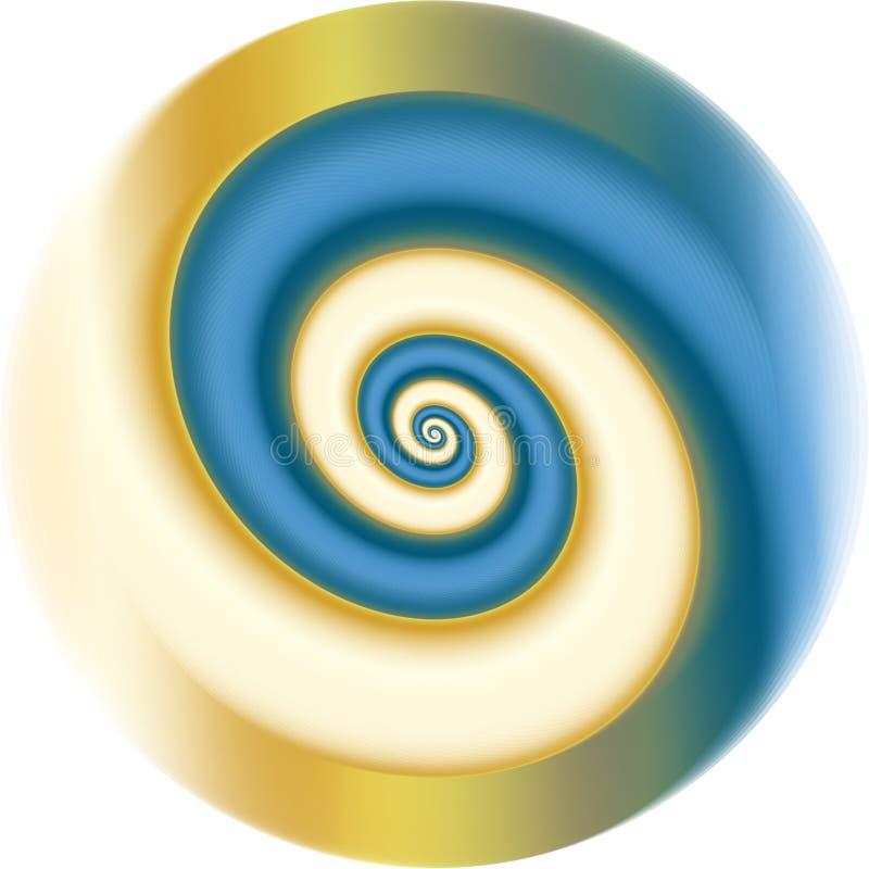 Download Blue fractal spiral stock vector. Image of bright, element - 9701946