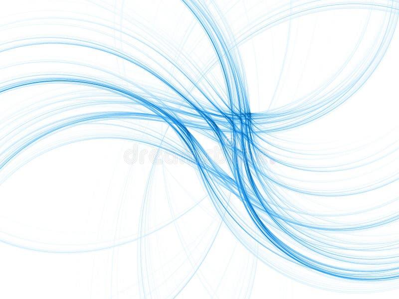 Blue fractal waves 3D vector illustration