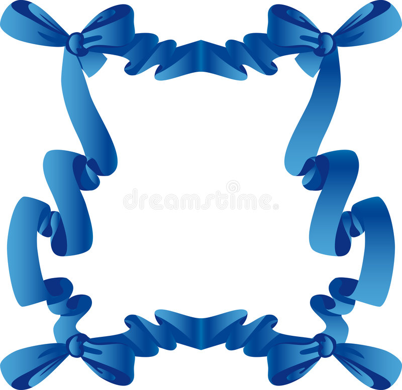 Download Blue frame with bow stock vector. Illustration of knot - 7502438