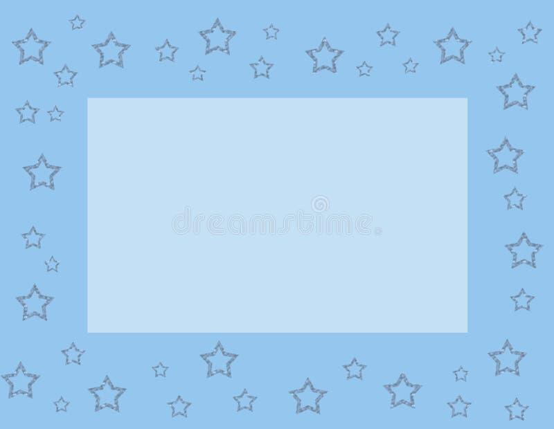 Blue frame with stars vector illustration