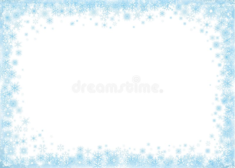Blue Frame on White Background royalty free illustration