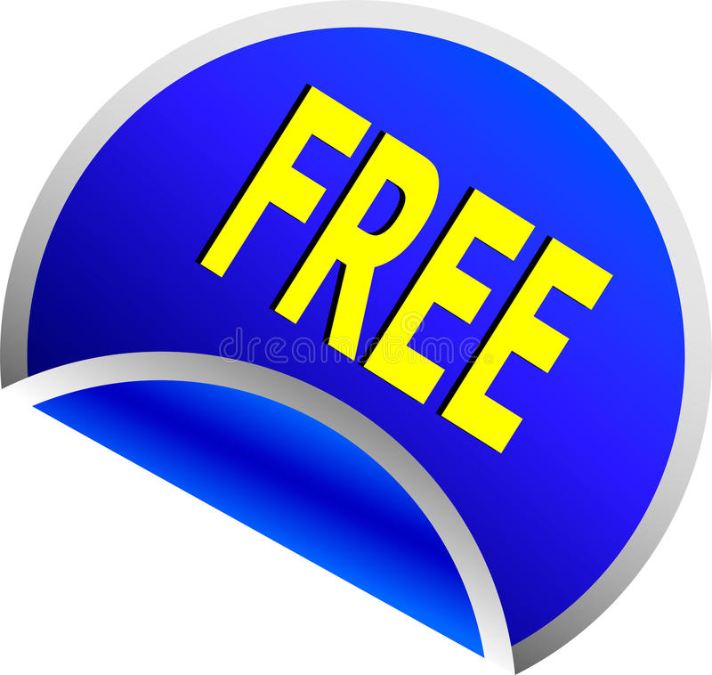 Free Blue Free Button Stock Photography - 9917122