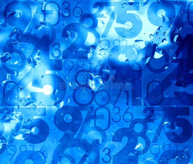 Blue fresh cool numbers background vector illustration