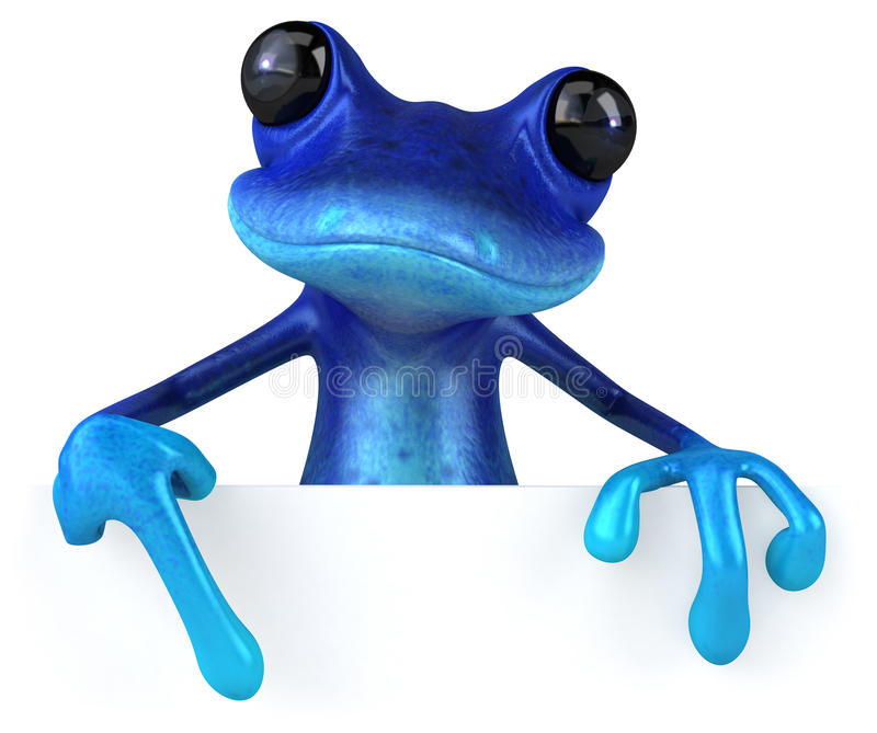 Blue frog. Cute little frog , 3D generated