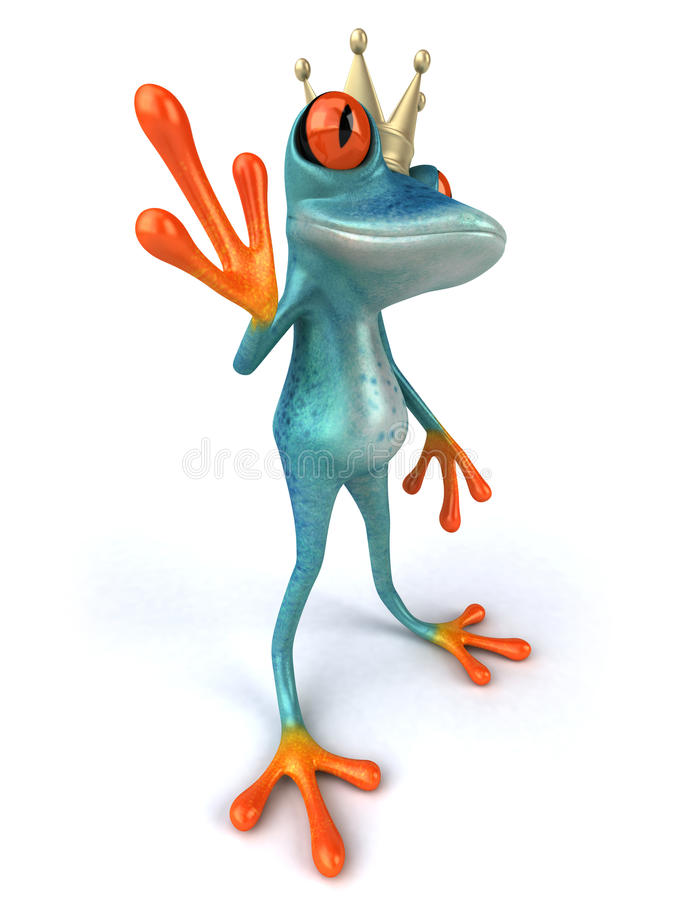 Download Blue frog stock illustration. Image of aqua, tropical - 25044480