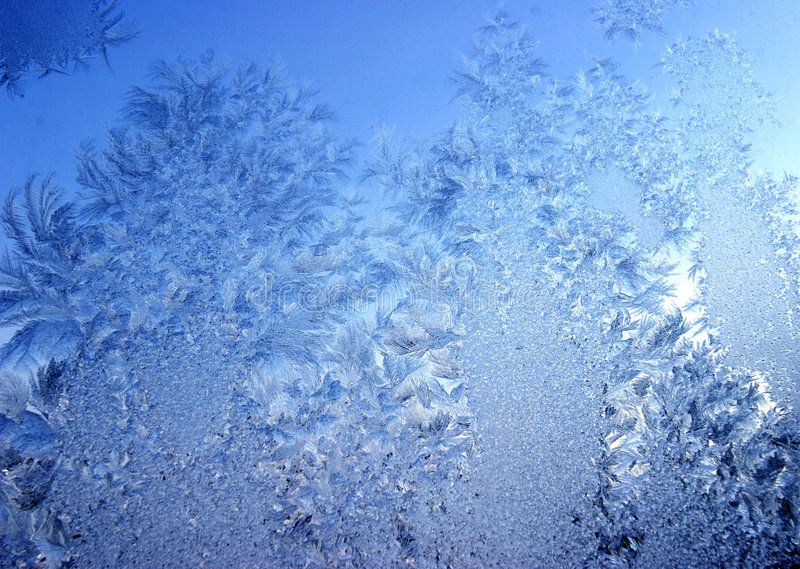 Blue frost stock image