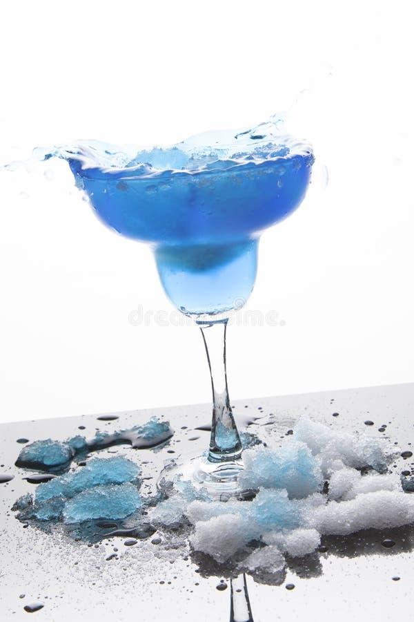 Blue Frozen Iceberg Margarita Splash royalty free stock photos