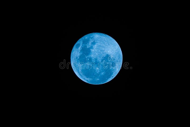 Blue Full moon on the dark night royalty free stock photography