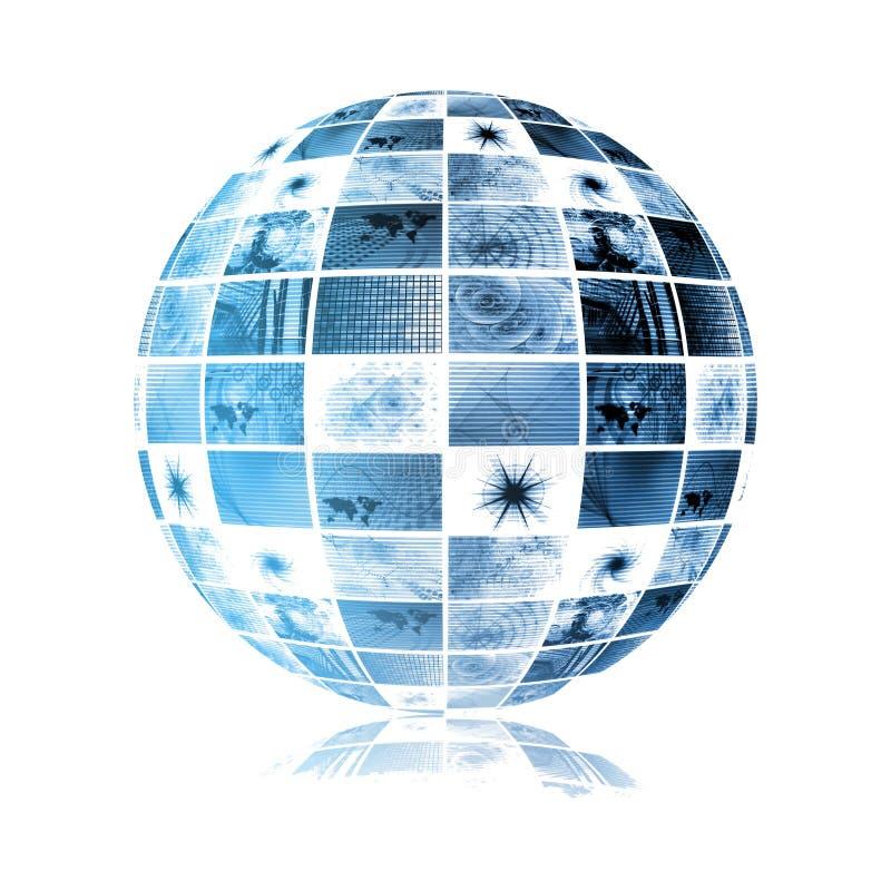 Blue Futuristic Digital TV Background stock illustration