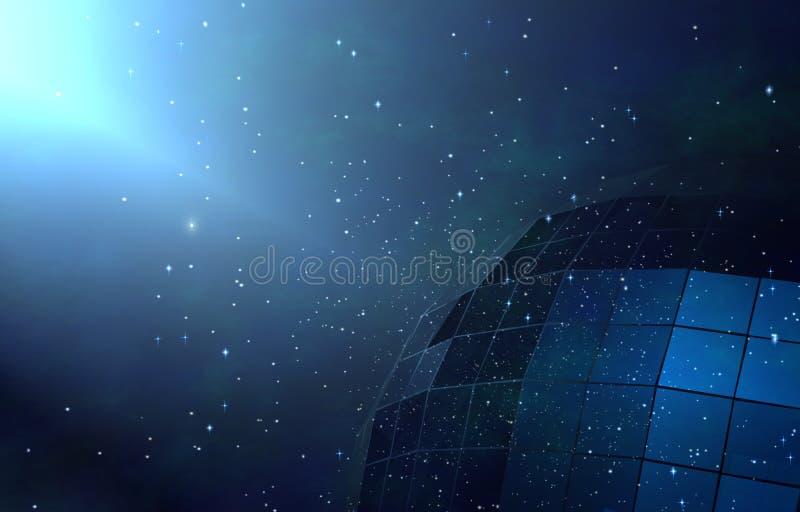 Blue galaxy royalty free stock photos