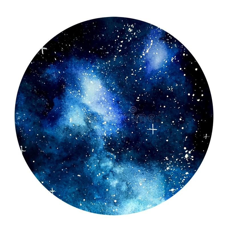 Free Blue Galaxy Background For Text In Circle Stock Image - 135098981