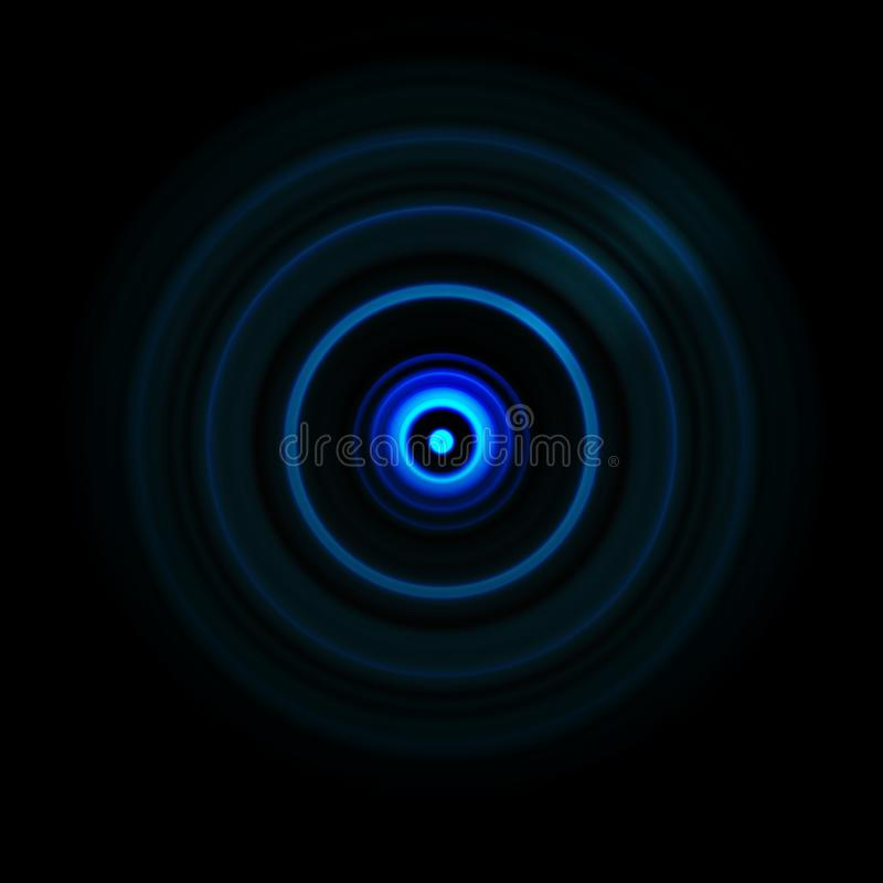 Blue galaxy spiral with circle spin effect, abstract background vector illustration
