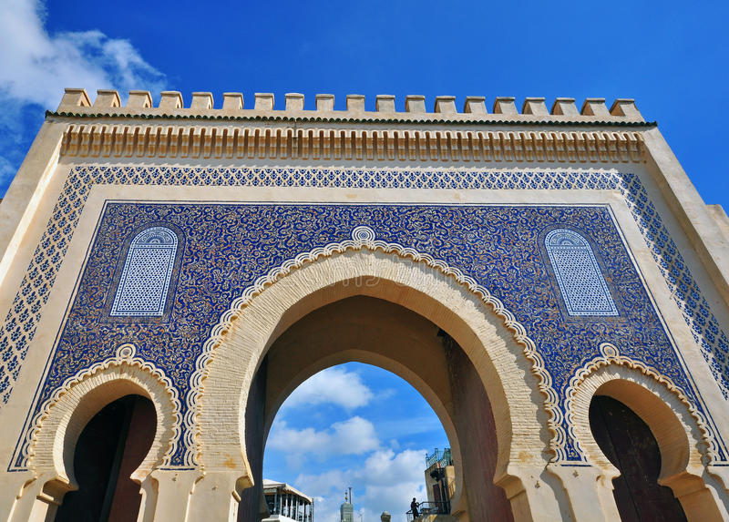 The blue gate, Fes stock images