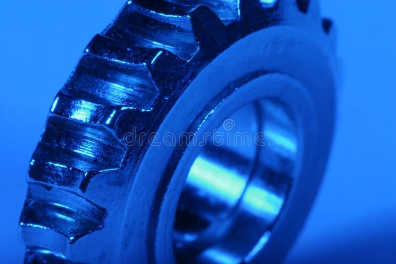 Blue gear 5. Gear wheel with blue gel stock images
