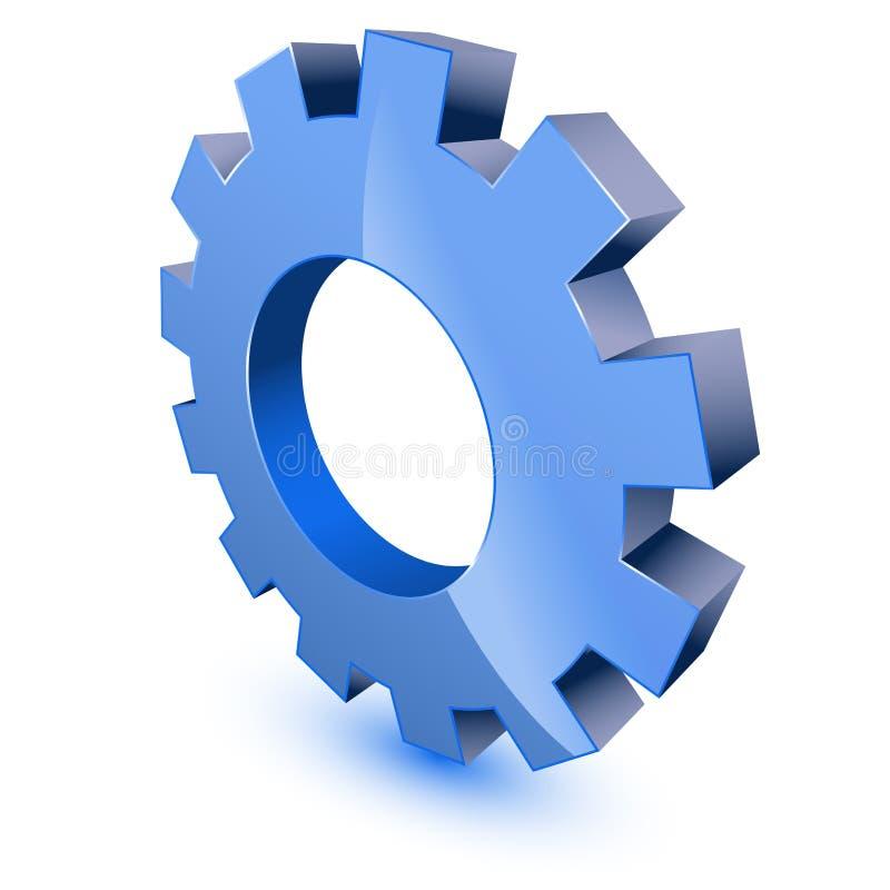 Blue Gear Wheel Symbol Stock Photo