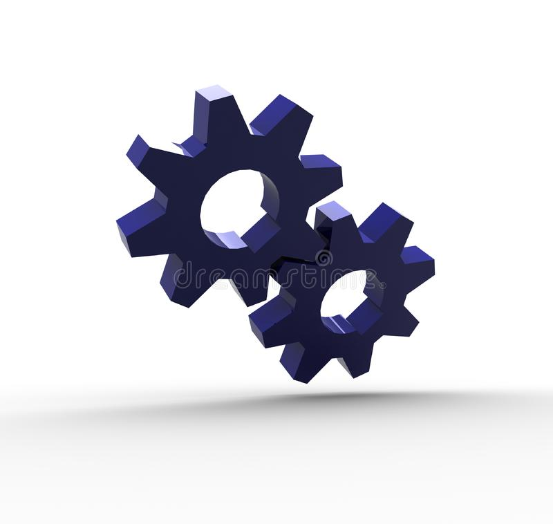 Blue Gears royalty free stock image