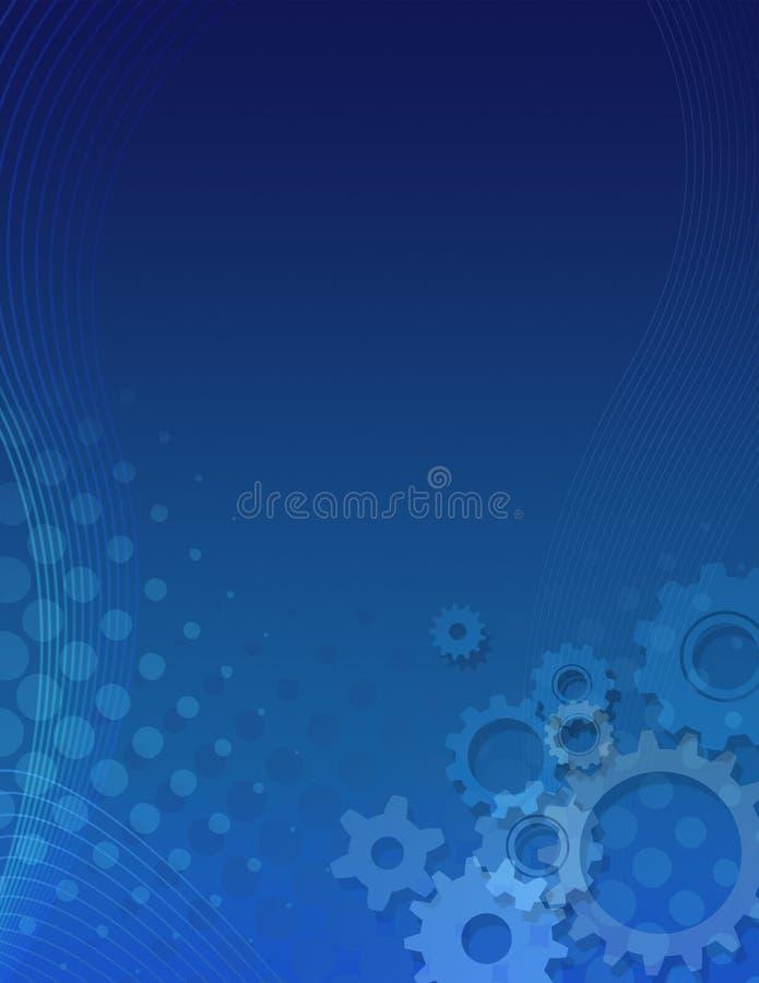 Blue gears background vector illustration