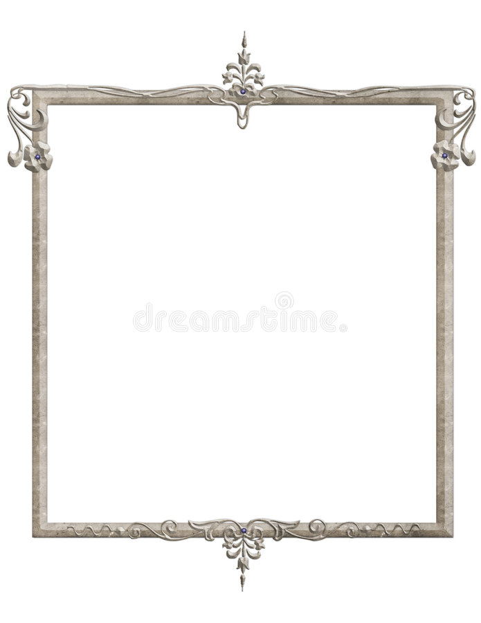 Free Blue Gemstone Victorian Frame Royalty Free Stock Photos - 915778