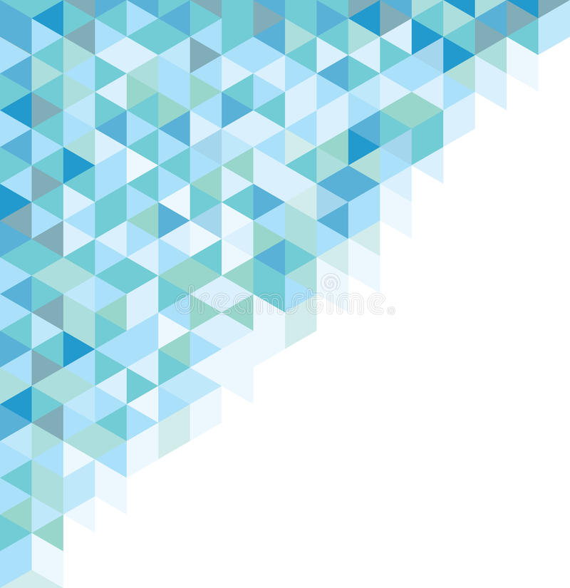 Blue geometric abstract pattern royalty free illustration