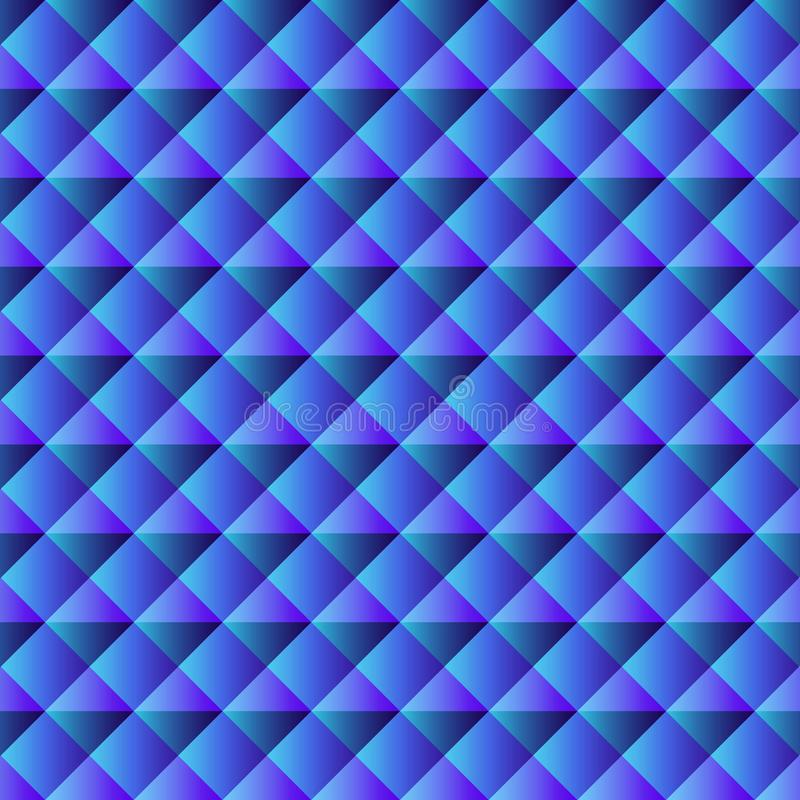 Blue geometric background for website decoration, banner, leaflet, cover art, packaging royalty free illustration