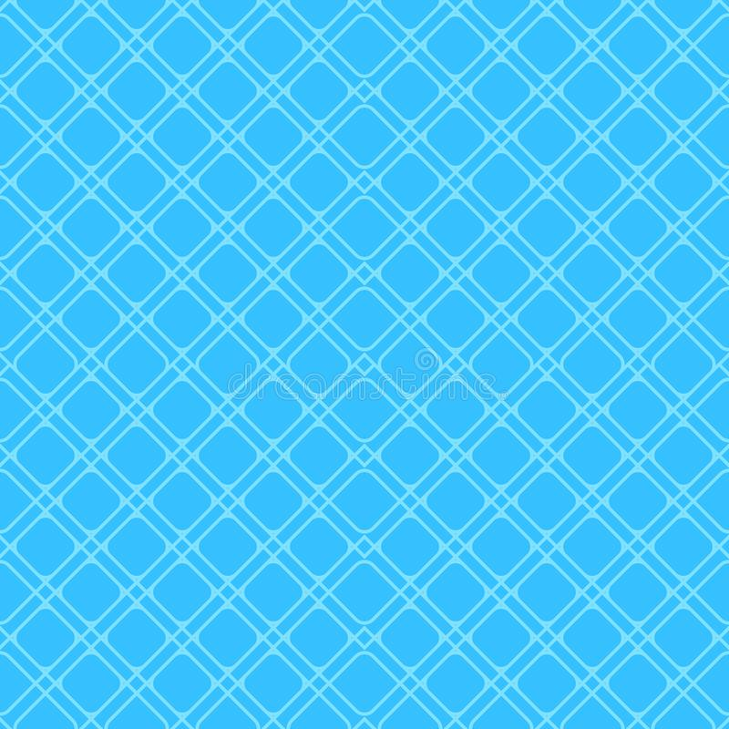 Blue geometric linear vector seamless pattern in minimal flat style. Eps 10 vector illustration