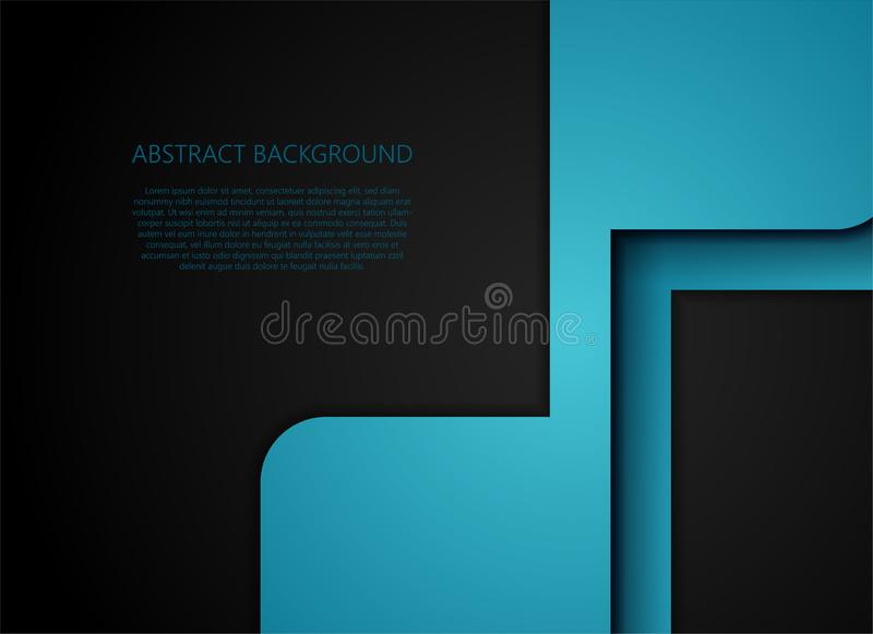 Blue geometric and overlap layer on gray background royalty free illustration