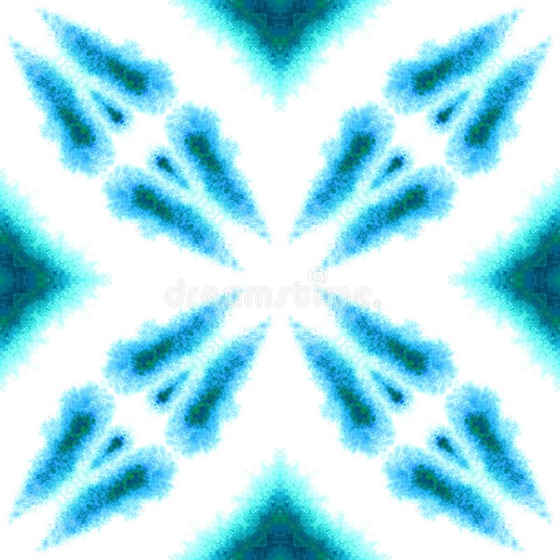 Blue Geometric Watercolor. Seamless Pattern.Surface Ornament. Blue Geometric Watercolor. Surface Textile. Seamless Pattern. Hand Drawn. Blur Brush Texture. Blue royalty free stock photography