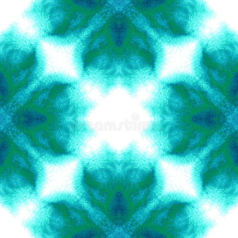 Blue Geometric Watercolor. Seamless Pattern.Surface Ornament. stock images