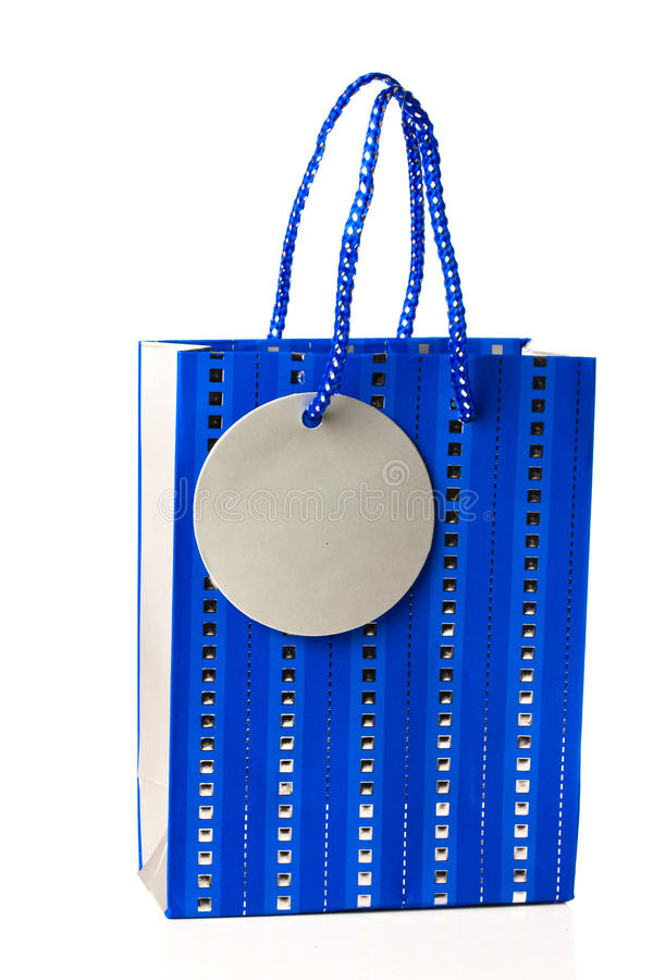 Blue Gift Bag stock images