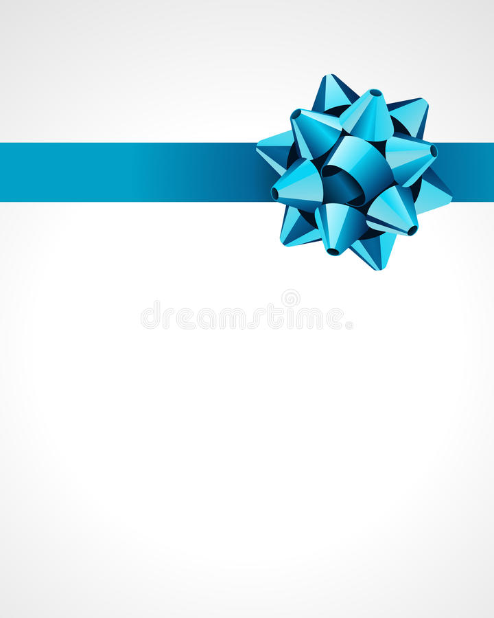 Blue Gift Bow and Ribbon stock illustration
