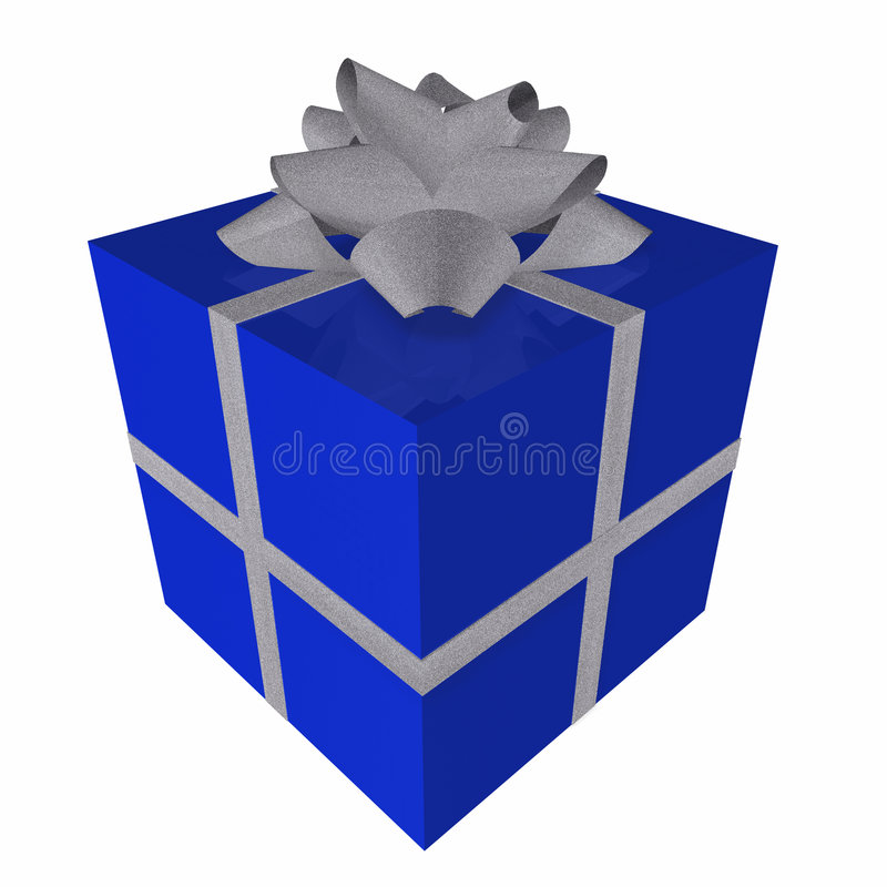 Download Blue Gift Box Royalty Free Stock Photography - Image: 1404247
