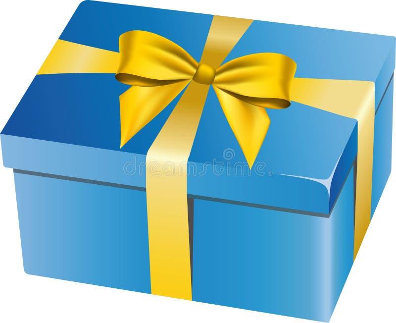 Download Blue gift box stock vector. Illustration of celebration - 14125238
